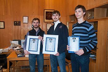 Аспиранты и студенты лаборатории получили награды за статьи в журнале